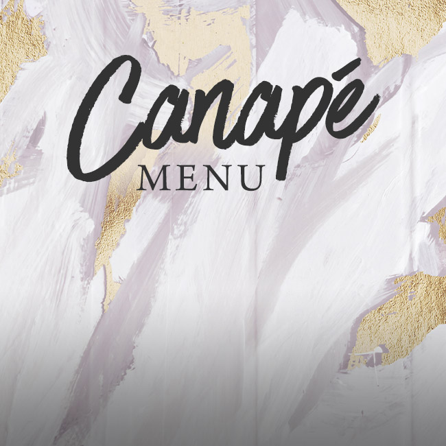 Canapé menu at The Brampton Mill