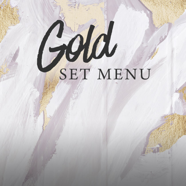 Gold set menu at The Brampton Mill