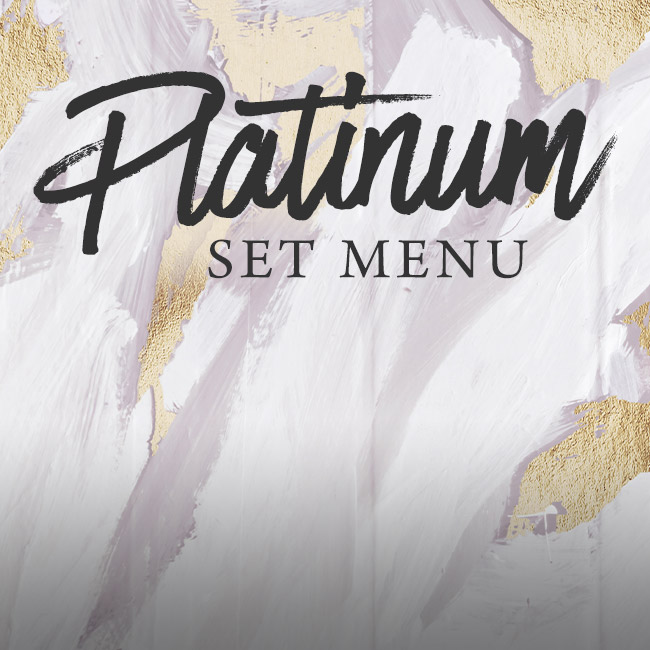 Platinum set menu at The Brampton Mill