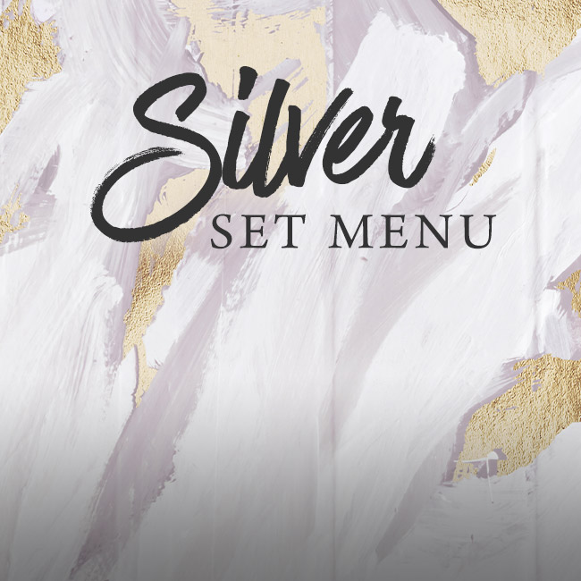 Silver set menu at The Brampton Mill