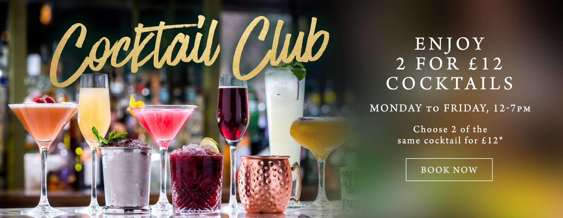 2 for £12 cocktails at The Brampton Mill